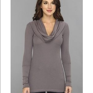 Splendid Cowl Neck Long Thermal Size Large